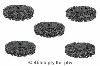 PTW Tools Clean & strip discs 1/2 turn lock 5 pack 75mm MG-SD75/5  - 4blok