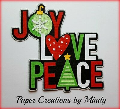Craftecafe Mindy Christmas Joy Peace title premade paper piecing scrapbook page