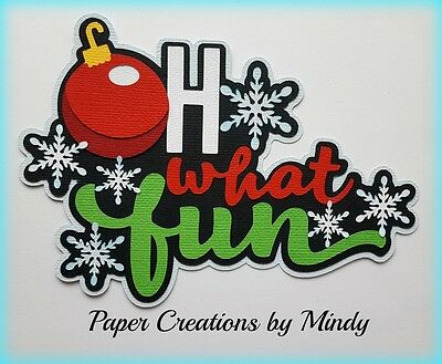 Craftecafe Mindy Winter Fun Christmas title premade paper piecing scrapbook page