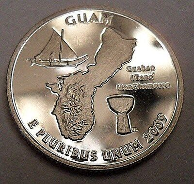 2009 S Guam *proof* Quarter   **free Shipping**
