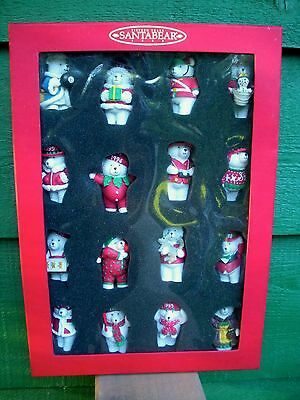 15 YEARS OF SANTABEAR -Boxed Set- 16 Resin Figures- 1999- New Condition