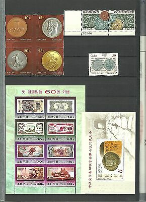 stamp,coins,RUSSIA,KOREA,CHINA,MNH GREAT!!!!!