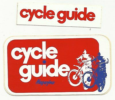 2 - VINTAGE - Cycle Guide Magazine - Decals - Stickers - Original - Motorcycles