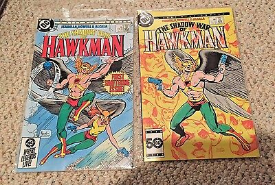 Shadow War of Hawkman #1 to #4 - VF/NM - 1985 DC Comics complete run mini series