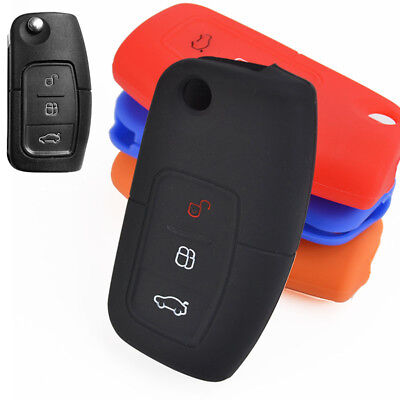 3 Button For Ford Fiesta Focus Mondeo Kuga C-Max Ecosport Galaxy Key Cover Case