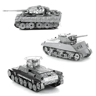 Tank Series 3D Metal Model Puzzle No Glue Jigsaw Laser Cut Assembly  Decorate