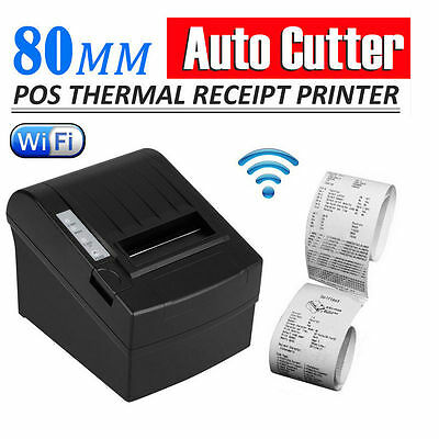 80mm WIFI Wireless POS Thermal Receipt Printer Auto Cutter/Ethernet/Serial kiosk
