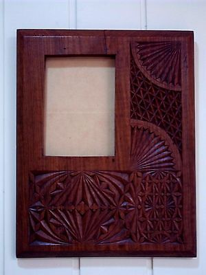 Large.Hardwood.Chip.Carved.Picture.Frame,circa.early.1900's