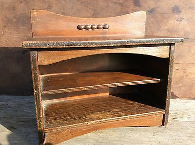 Vintage Old Antique Wooden Cabinet Apprentice Piece Cupboard Sideboard Miniature