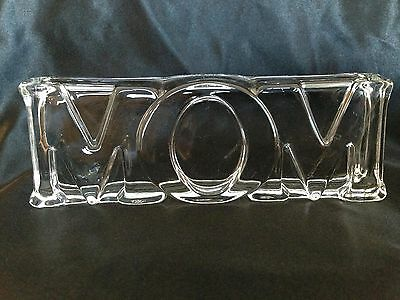 MOM Glass Figurine Paperweight Display Made by Avon
