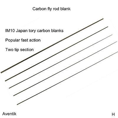 Aventik Freshwater IM10 High Mould Carbon Fly Rod Blanks 7'6''-9'', Two Tips