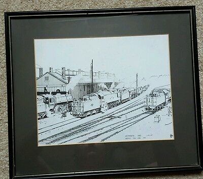 Weymouth Shed Pen & Ink Drawing