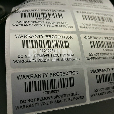Warranty Protection Security Seal Tamper Proof sticker 100 500 1000pcs