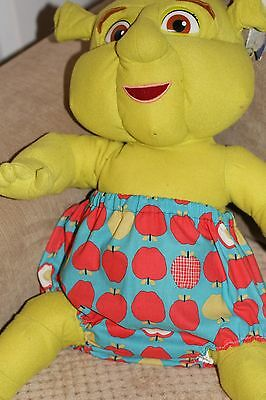NEW HANDMADE DIAPER/NAPPY COVER PANTS 12-24 MONTHS unisex) rosy apples