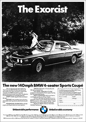 BMW E9 3.0 CSi COUPE RETRO A3 POSTER PRINT FROM CLASSIC ADVERT