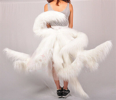 LOL League Cosplay  Kyuubi Kitsune Cute Tail Halloween Costumes Accessory White