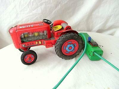 Vintage Modern Toys Tin Tractor, Made In Japan