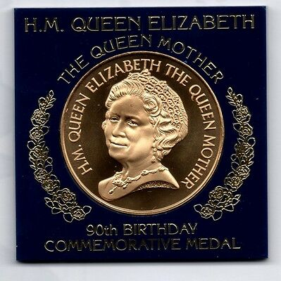 Hm Queen Elizabeth The Queen Mother 90Th Birthday Medal