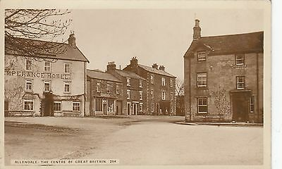 Allendale Village Real Photo used 1915 Monarch Series to Gateshead.