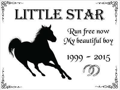 pet memorial plaque for horse, also any animal such as dog, cat, bunny rabbit