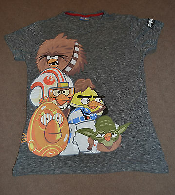 Next Grey Angry Birds Star Wars T-Shirt size 11 years
