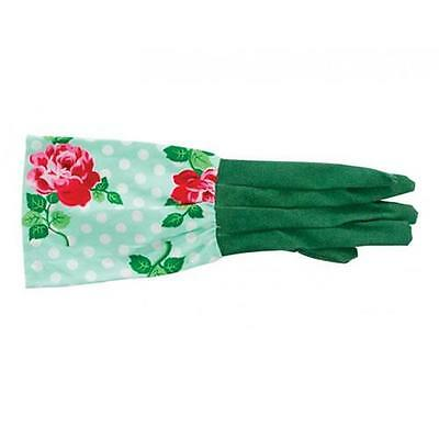 Long Sleeve Ladies Lucy Floral Soft Cotton Garden Gloves Gardening New Womens