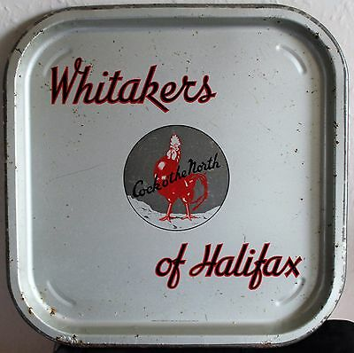 WHITAKERS OF HALIFAX Vintage 1960's Advertising Pub Bar Beer Drinks Tray Retro