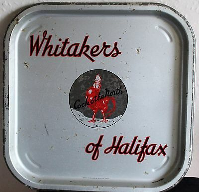WHITAKERS OF HALIFAX Vintage 1960's Advertising  Bar Beer Drinks Tray Retro  (A)
