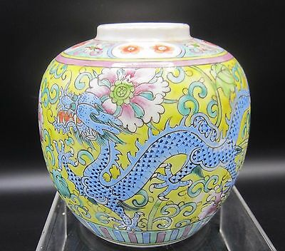 Antique porcelain pot with imperial dragon and phoenix - China - ca 1920
