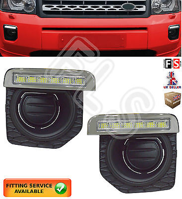 Land Rover Freelander 2 Led Drl Day Time Running Light Lamps 2011-2014 Drl Fog