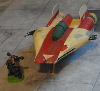 West End Games MPC A-Wing Fighter Miniatures Model Toys Star Wars 25mm Plastic