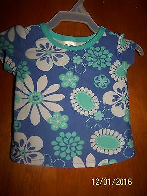 Old Navy short sleeved baby infant girls shirt size 12-18 months toddler flowers