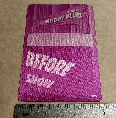 THE MOODY BLUES authentic unused concert tour backstage pass - OTTO (D3)