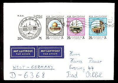 Letter Sent By Air Mail From Saudi Arabia To Germany. Nice Stamps On The Envelop
