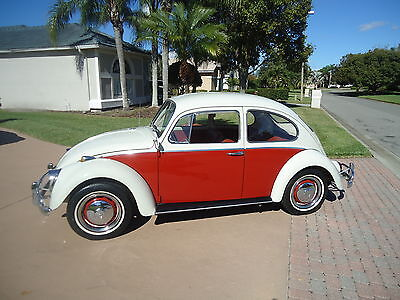 1966 Volkswagen Beetle - Classic RED 1966 BEETLE - ABSOLUTELY GORGEOUS- 1 FAMILY OWNED CAR -ALL STOCK - ORIGINAL CAR