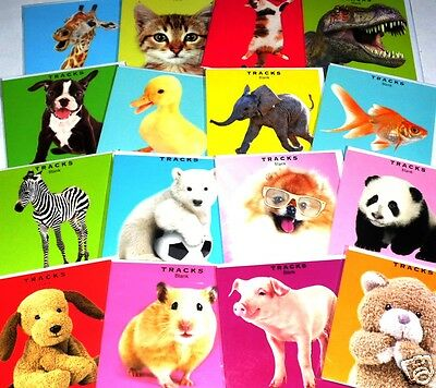 """150 CUTE ANIMAL PHOTOGRAPHIC CARDS JUST 10p, 12 designs wrapped-5"""" square"""