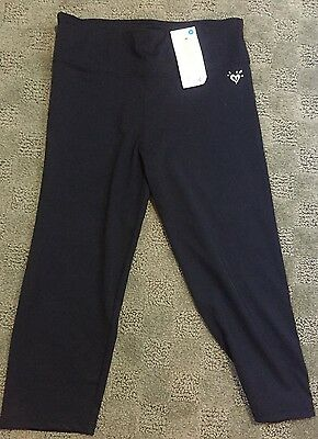 Justice Girls cropped leggings black NWT Size 14 new!