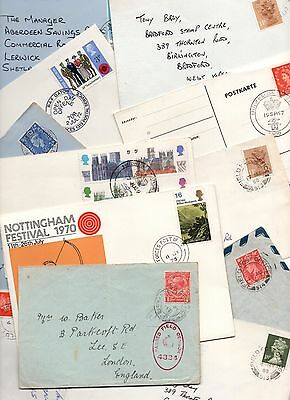 11 Various Military Field Post Office Covers (8 Scans) - Good Condition