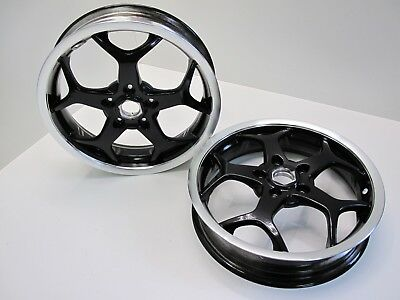 2 x vespa gt gts gtv mp3 125 200 250 300 wheel wheels front rear both pair set-1