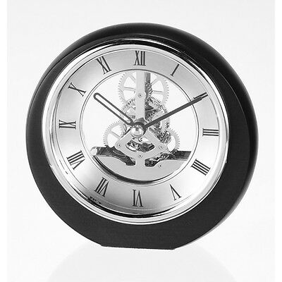Mini Round Skeleton Mantel Clock with Chrome Plated bezel SKC17/S New