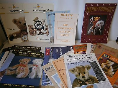 Catalogues Soft Toys Teddy bears Merrythought Deans Steiff Club Magazine Reporte