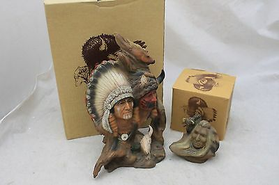 J H Boone Native American Neil Rose Earth Brothers + Buffalo Heart BOXED -226