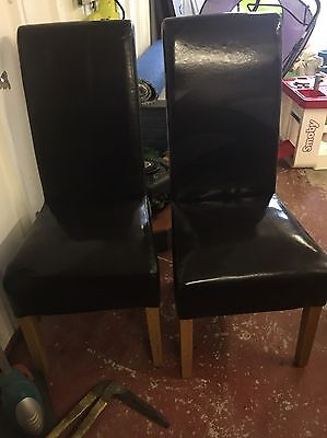 Leather Effect Dining Chairs