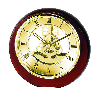 Mini Round Skeleton Mantel Clock with Chrome Plated bezel SKC17 New