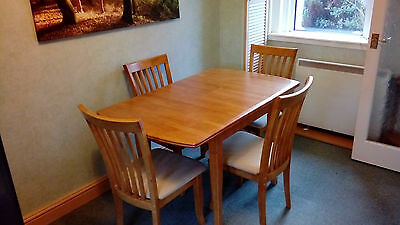 Dining table & 4 chairs, adjustable length