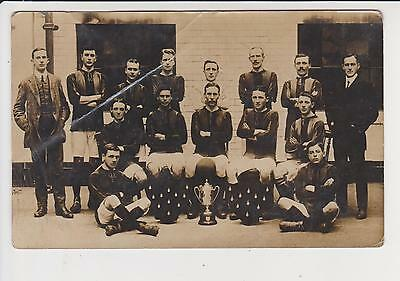 Rp Early Welsh Football Team , See Message On Back (Pontypidd) C 1912