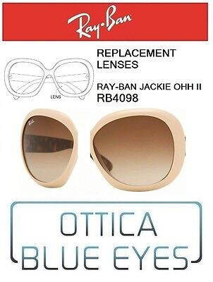 Lenti di Ricambio RAYBAN JACKIE OHH II RB4098 13 BRW Replacement Lenses Ray Ban