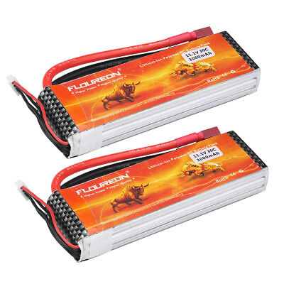 2x 5200mAh 30C 7.4V 2S LiPo RC Battery Deans Plug for RC Helicopter Airplane Car