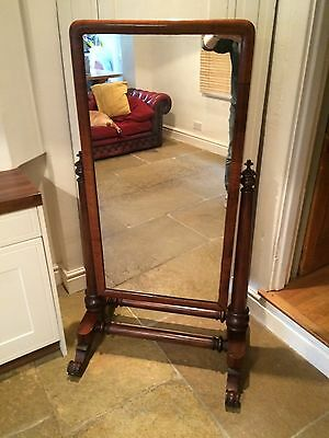 Stunning Full Length Large Victorian Mahogany Cheval Mirror