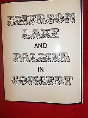 Emerson Lake And Palmer 70's Concert Programme